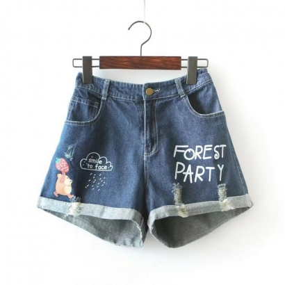 Quần short denim Forest party