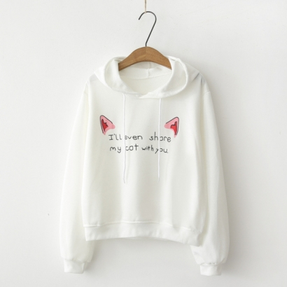 Áo hoodie I'll even share my cat with you